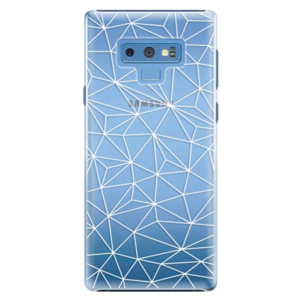 Plastové pouzdro iSaprio - Abstract Triangles 03 - white - Samsung Galaxy Note 9