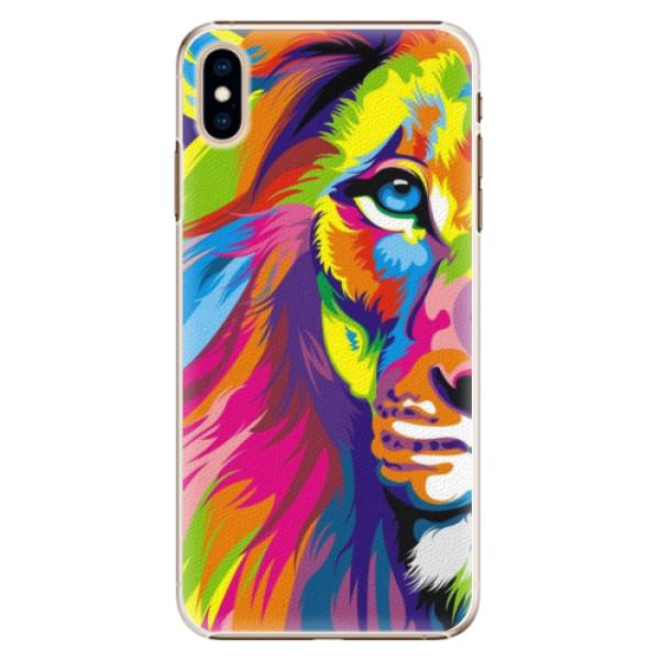 Plastové pouzdro iSaprio - Rainbow Lion - iPhone XS Max