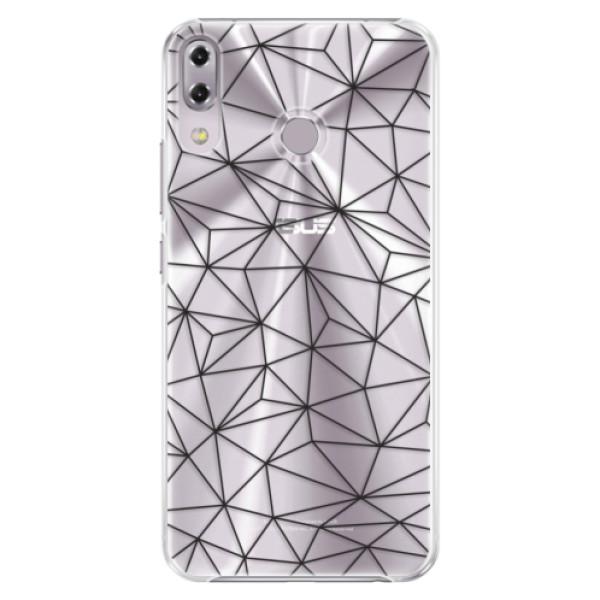 Plastové pouzdro iSaprio - Abstract Triangles 03 - black - Asus ZenFone 5Z ZS620KL