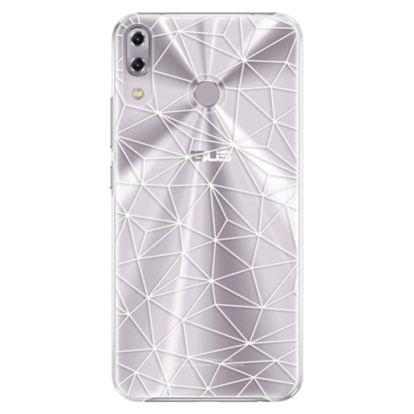 Plastové pouzdro iSaprio - Abstract Triangles 03 - white - Asus ZenFone 5Z ZS620KL