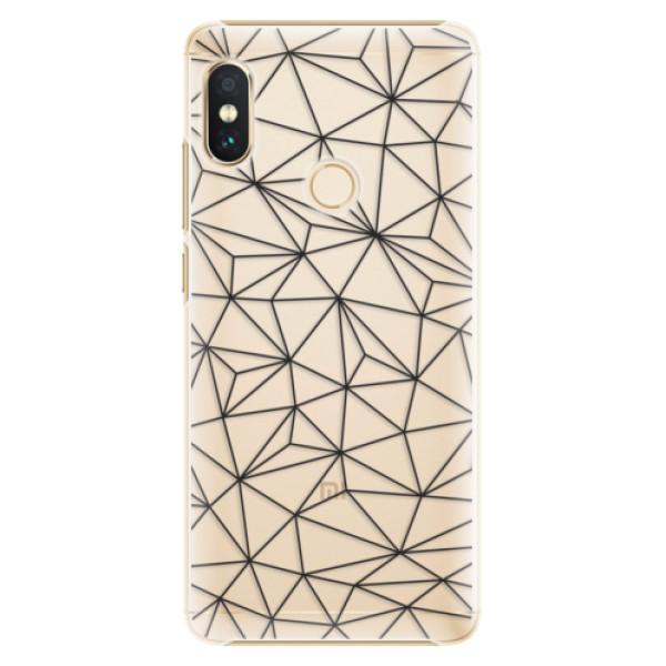 Plastové pouzdro iSaprio - Abstract Triangles 03 - black - Xiaomi Redmi Note 5