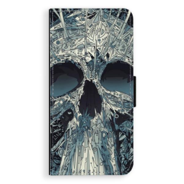 Flipové pouzdro iSaprio - Abstract Skull - Huawei P20