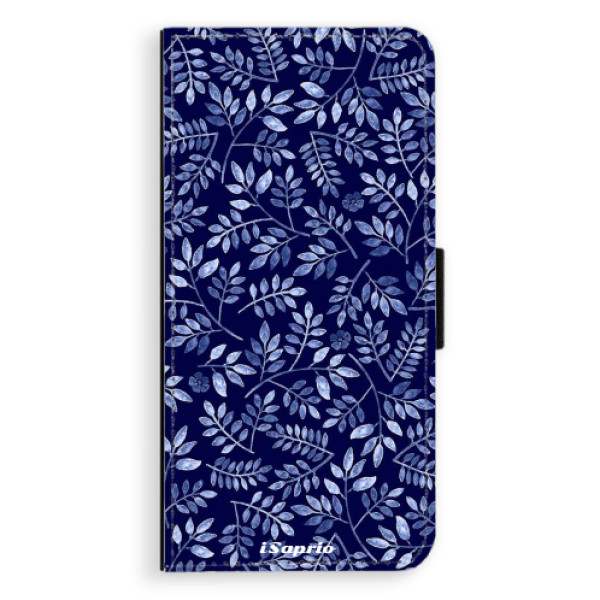 Flipové pouzdro iSaprio - Blue Leaves 05 - Samsung Galaxy S9