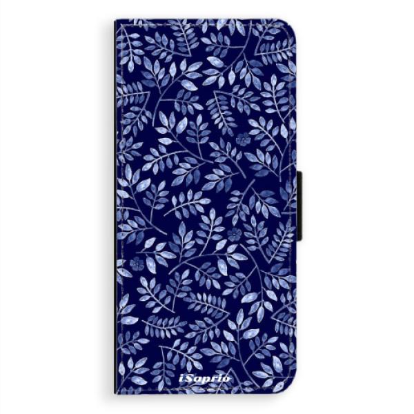 Flipové pouzdro iSaprio - Blue Leaves 05 - Samsung Galaxy A8 Plus