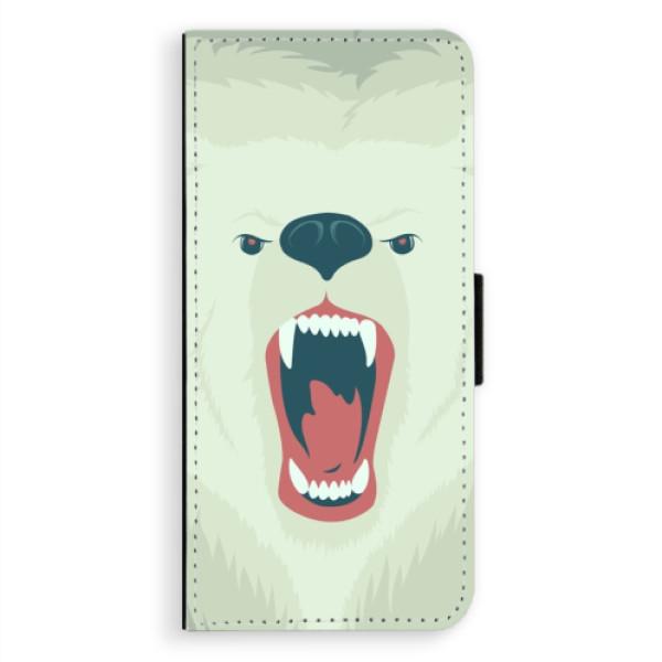 Flipové pouzdro iSaprio - Angry Bear - Samsung Galaxy A8 Plus