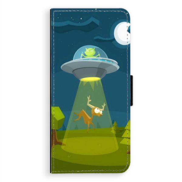 Flipové pouzdro iSaprio - Alien 01 - Samsung Galaxy A8 Plus