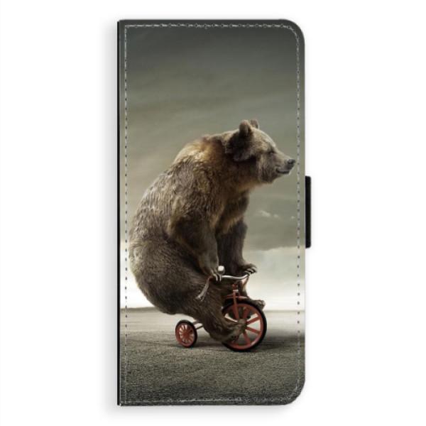 Flipové pouzdro iSaprio - Bear 01 - Samsung Galaxy A8 Plus
