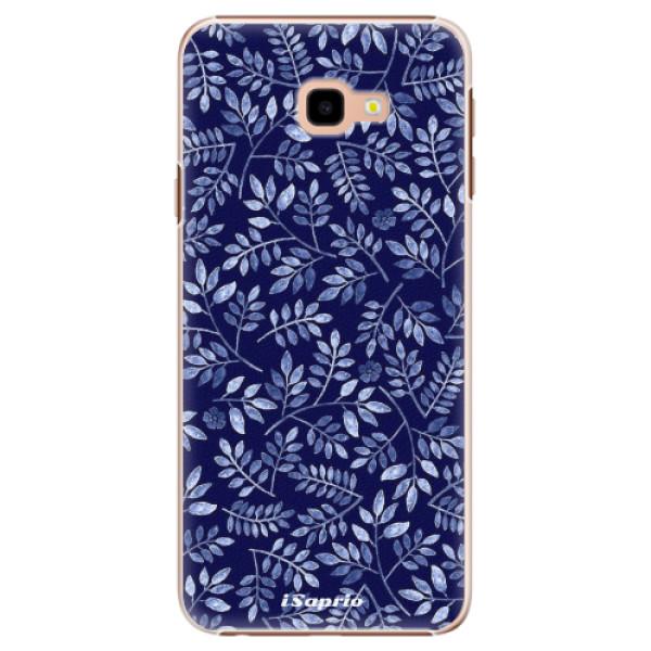 Plastové pouzdro iSaprio - Blue Leaves 05 - Samsung Galaxy J4+