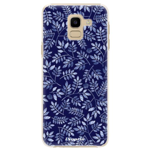 Plastové pouzdro iSaprio - Blue Leaves 05 - Samsung Galaxy J6