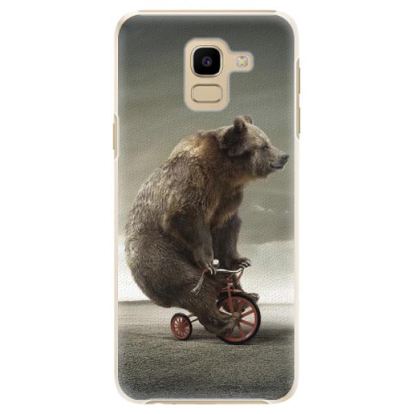 Plastové pouzdro iSaprio - Bear 01 - Samsung Galaxy J6