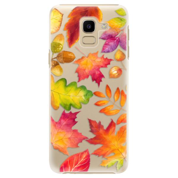 Plastové pouzdro iSaprio - Autumn Leaves 01 - Samsung Galaxy J6