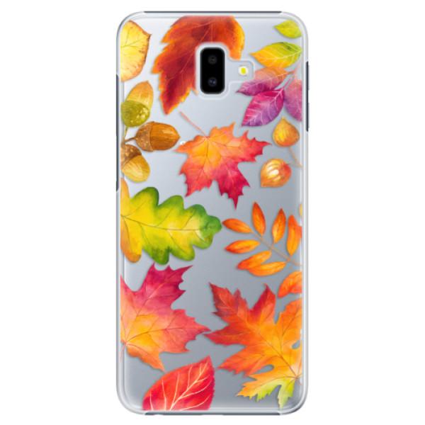 Plastové pouzdro iSaprio - Autumn Leaves 01 - Samsung Galaxy J6+