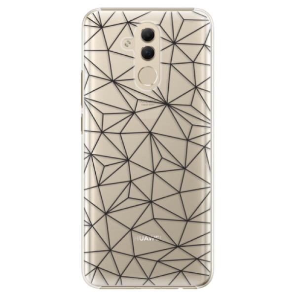 Plastové pouzdro iSaprio - Abstract Triangles 03 - black - Huawei Mate 20 Lite