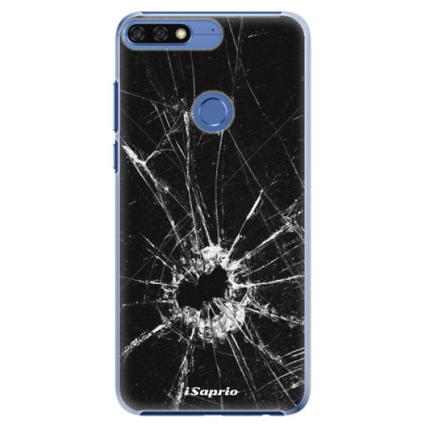 Plastové pouzdro iSaprio - Broken Glass 10 - Huawei Honor 7C