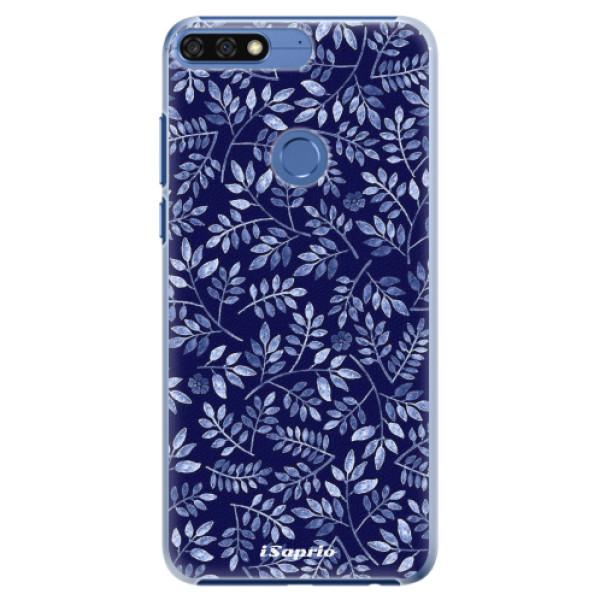 Plastové pouzdro iSaprio - Blue Leaves 05 - Huawei Honor 7C