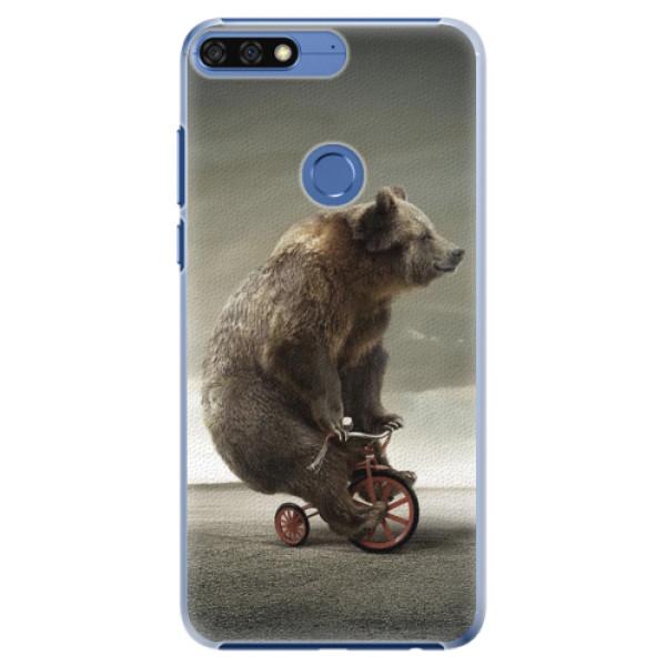 Plastové pouzdro iSaprio - Bear 01 - Huawei Honor 7C