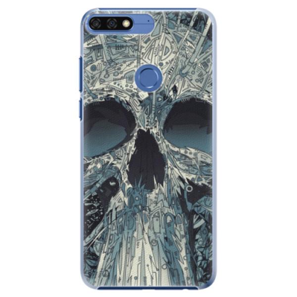 Plastové pouzdro iSaprio - Abstract Skull - Huawei Honor 7C