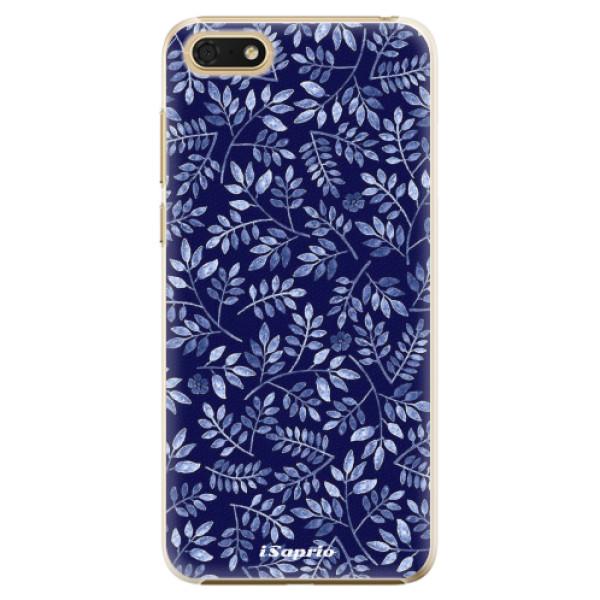 Plastové pouzdro iSaprio - Blue Leaves 05 - Huawei Honor 7S
