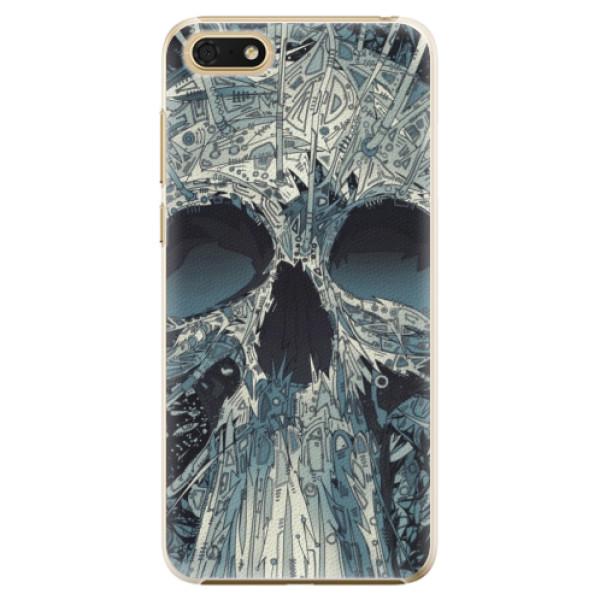 Plastové pouzdro iSaprio - Abstract Skull - Huawei Honor 7S