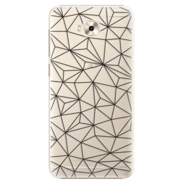 Plastové pouzdro iSaprio - Abstract Triangles 03 - black - Asus ZenFone 4 Selfie ZD553KL
