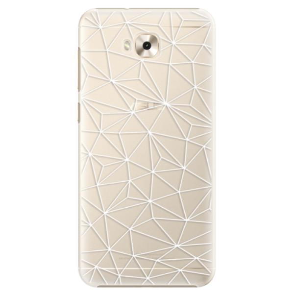 Plastové pouzdro iSaprio - Abstract Triangles 03 - white - Asus ZenFone 4 Selfie ZD553KL