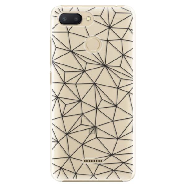 Plastové pouzdro iSaprio - Abstract Triangles 03 - black - Xiaomi Redmi 6