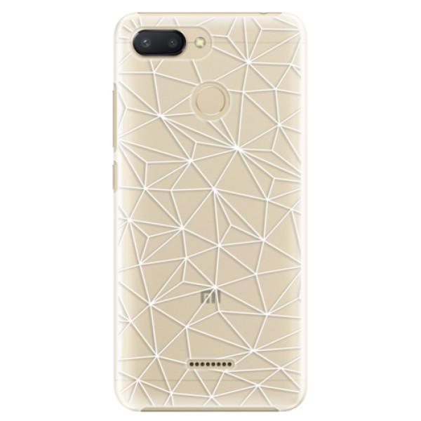 Plastové pouzdro iSaprio - Abstract Triangles 03 - white - Xiaomi Redmi 6