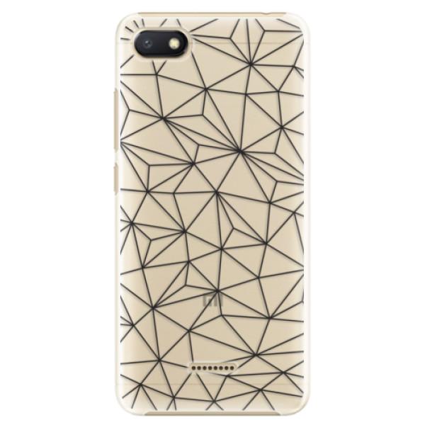 Plastové pouzdro iSaprio - Abstract Triangles 03 - black - Xiaomi Redmi 6A