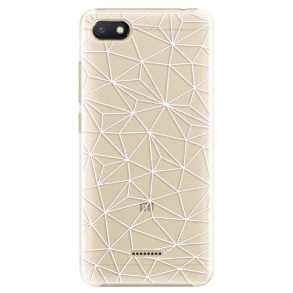 Plastové pouzdro iSaprio - Abstract Triangles 03 - white - Xiaomi Redmi 6A
