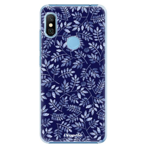 Plastové pouzdro iSaprio - Blue Leaves 05 - Xiaomi Redmi Note 6 Pro