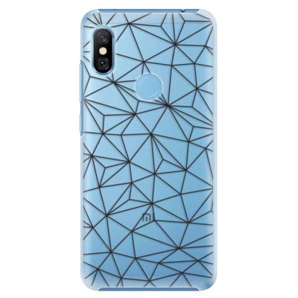 Plastové pouzdro iSaprio - Abstract Triangles 03 - black - Xiaomi Redmi Note 6 Pro