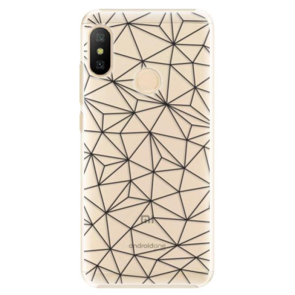 Plastové pouzdro iSaprio - Abstract Triangles 03 - black - Xiaomi Mi A2 Lite