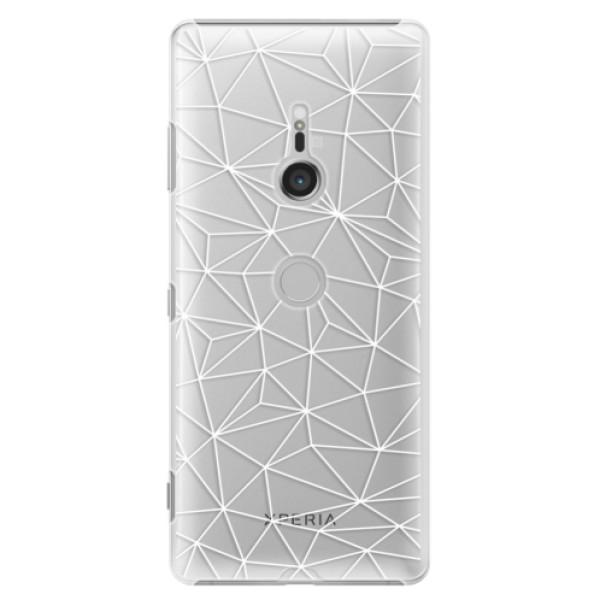 Plastové pouzdro iSaprio - Abstract Triangles 03 - white - Sony Xperia XZ3