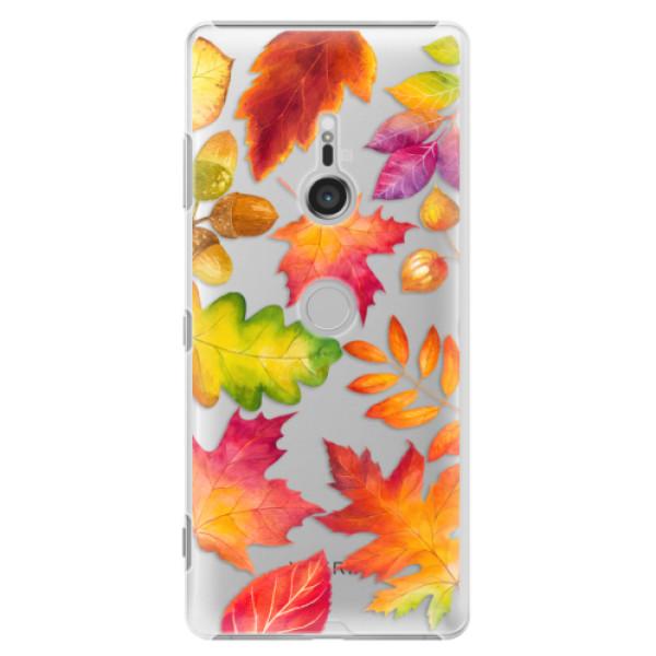 Plastové pouzdro iSaprio - Autumn Leaves 01 - Sony Xperia XZ3
