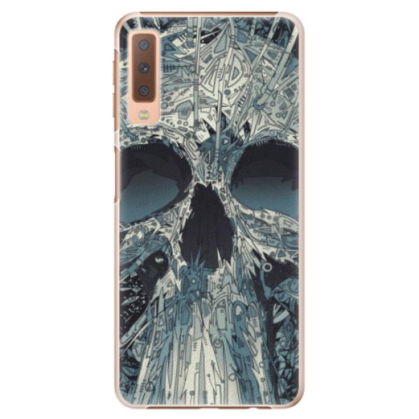 Plastové pouzdro iSaprio - Abstract Skull - Samsung Galaxy A7 (2018)