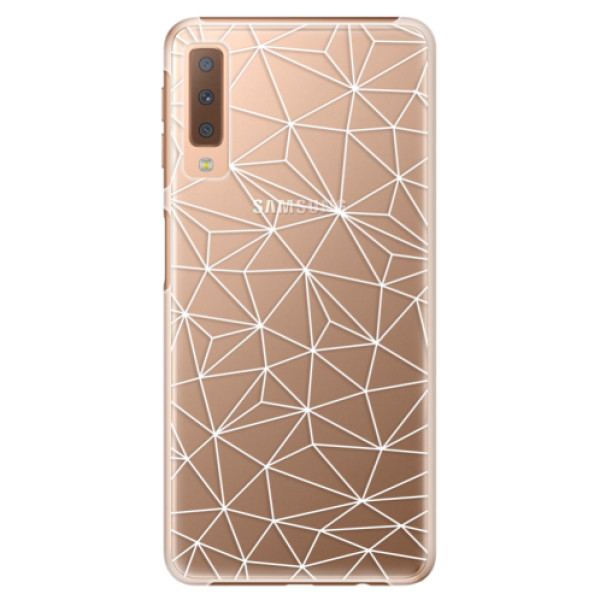 Plastové pouzdro iSaprio - Abstract Triangles 03 - white - Samsung Galaxy A7 (2018)