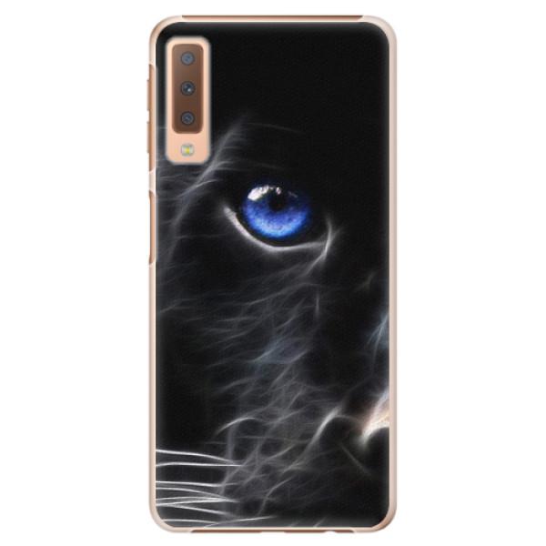 Plastové pouzdro iSaprio - Black Puma - Samsung Galaxy A7 (2018)