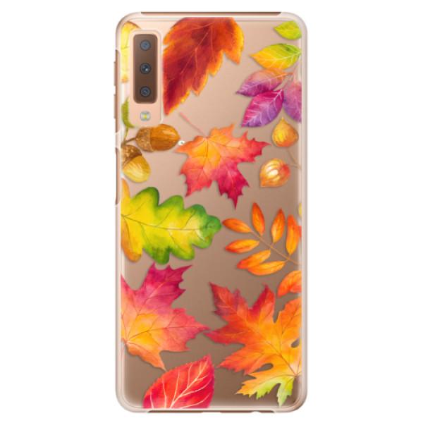 Plastové pouzdro iSaprio - Autumn Leaves 01 - Samsung Galaxy A7 (2018)