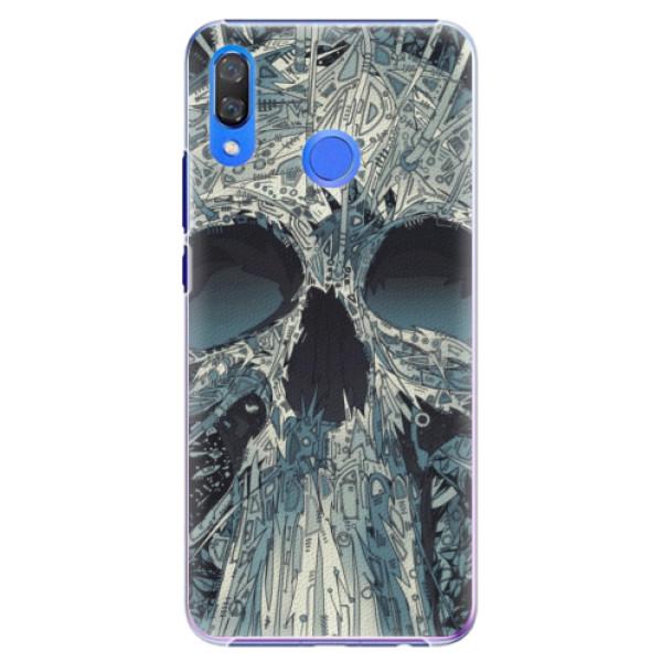 Plastové pouzdro iSaprio - Abstract Skull - Huawei Y9 2019