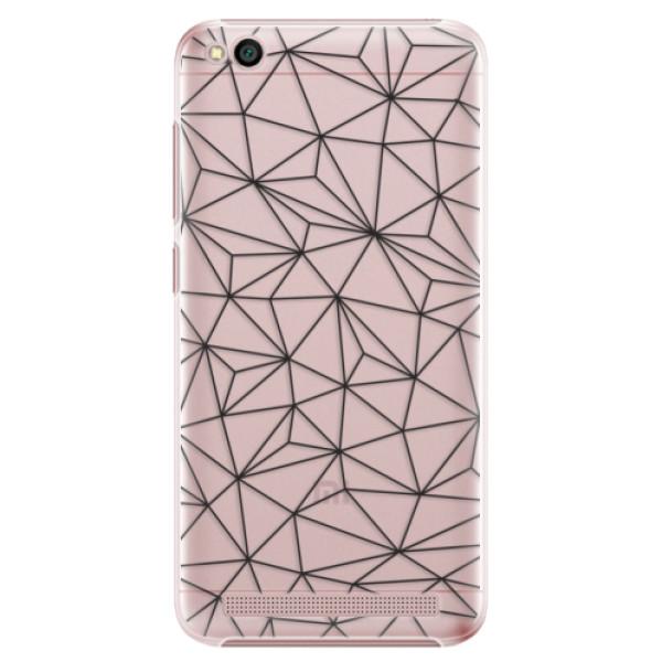 Plastové pouzdro iSaprio - Abstract Triangles 03 - black - Xiaomi Redmi 5A