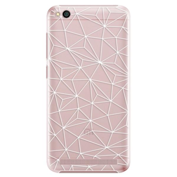 Plastové pouzdro iSaprio - Abstract Triangles 03 - white - Xiaomi Redmi 5A