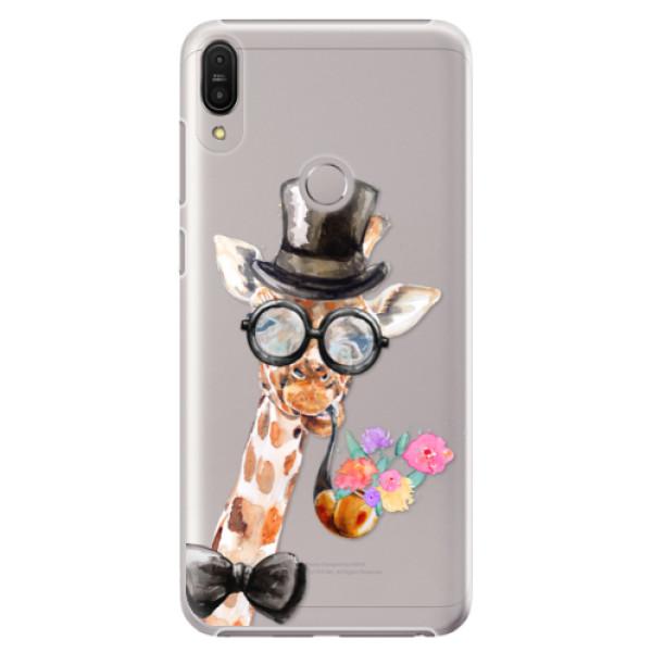 Plastové pouzdro iSaprio - Sir Giraffe - Asus Zenfone Max Pro ZB602KL