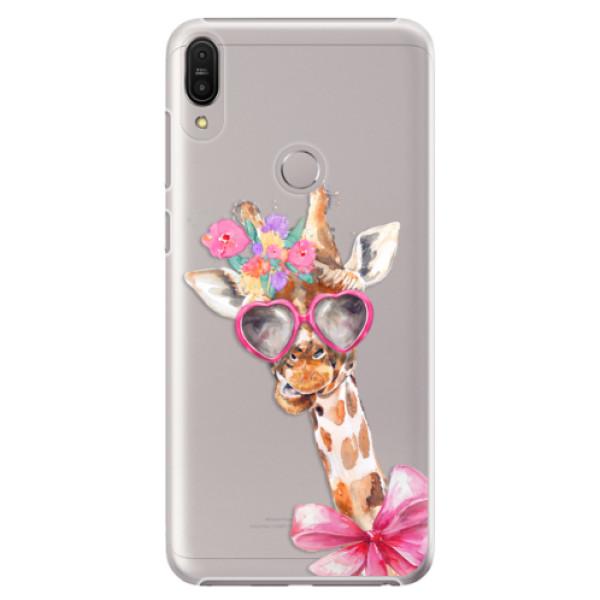 Plastové pouzdro iSaprio - Lady Giraffe - Asus Zenfone Max Pro ZB602KL