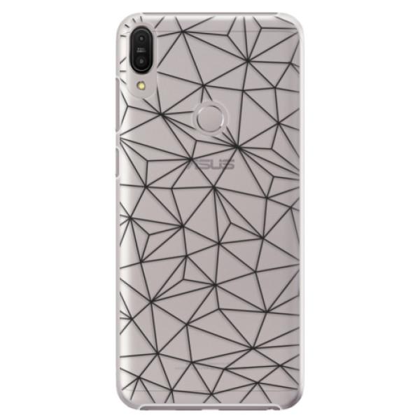 Plastové pouzdro iSaprio - Abstract Triangles 03 - black - Asus Zenfone Max Pro ZB602KL