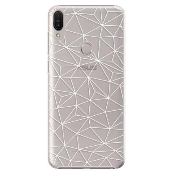 Plastové pouzdro iSaprio - Abstract Triangles 03 - white - Asus Zenfone Max Pro ZB602KL