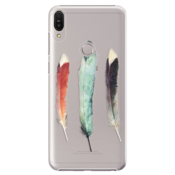Plastové pouzdro iSaprio - Three Feathers - Asus Zenfone Max Pro ZB602KL