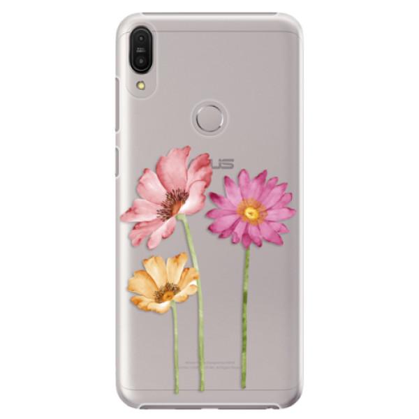 Plastové pouzdro iSaprio - Three Flowers - Asus Zenfone Max Pro ZB602KL