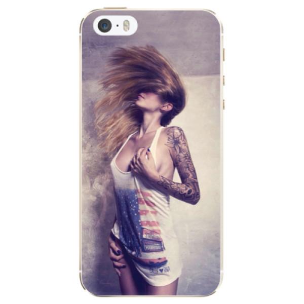 Silikonové pouzdro iSaprio - Girl 01 - iPhone 5/5S/SE