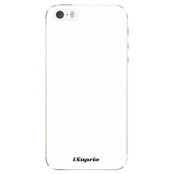 Silikonové pouzdro iSaprio - 4Pure - bílý - iPhone 5/5S/SE