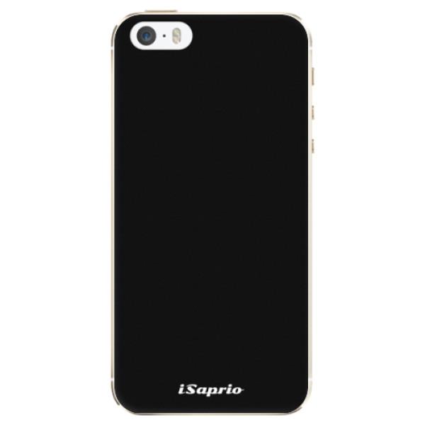 Silikonové pouzdro iSaprio - 4Pure - černý - iPhone 5/5S/SE